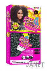 Janet Collection Retro Glam & Vibe 100% Natural Virgin Human Hair 4A COILY KINKY WEAVING 10""