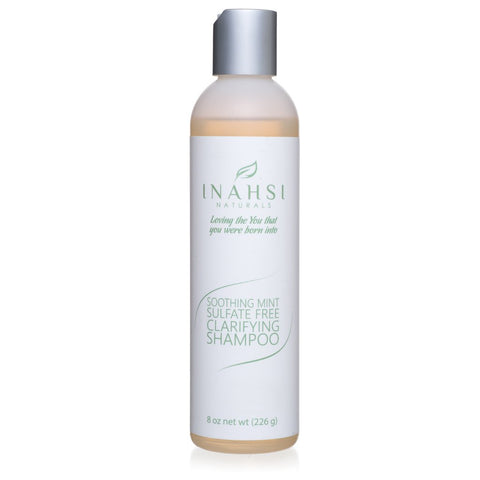 Inahsi Naturals Soothing Mint Sulfate Free Clarifying Shampoo 8oz