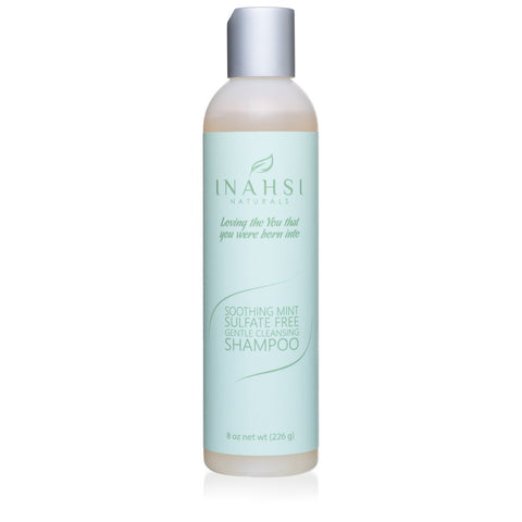 Inahsi Naturals Soothing Mint Sulfate Free Gentle Cleansing Shampoo 8oz