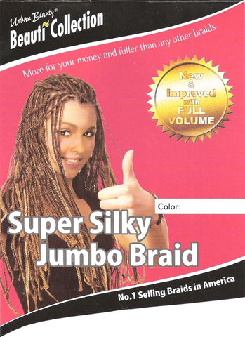 Synthetic Super Silky Jumbo Braid (PP) #1B