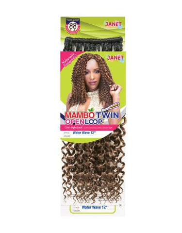 Janet Collection Water Wave 12″ (TWIN LOOP)