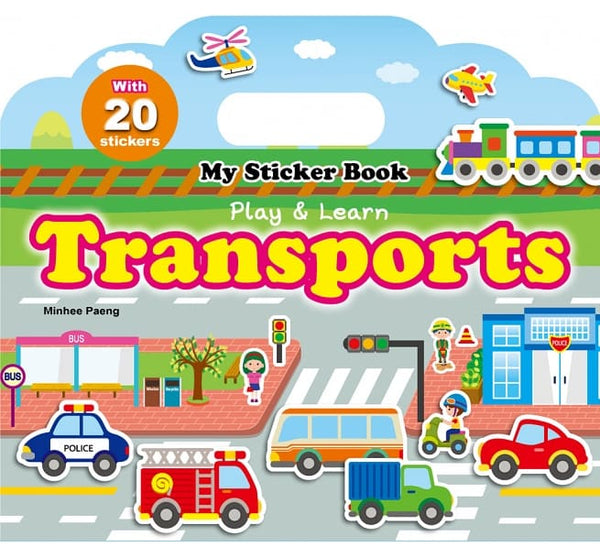 My Sticker Book-Transports(手提貼紙書─交通工具 英文版)