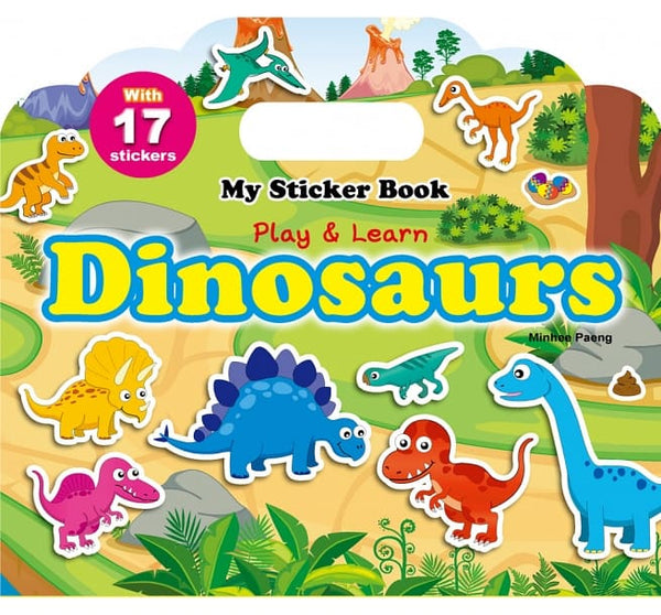 My Sticker Book-Dinosaurs(手提貼紙書─恐龍 英文版)
