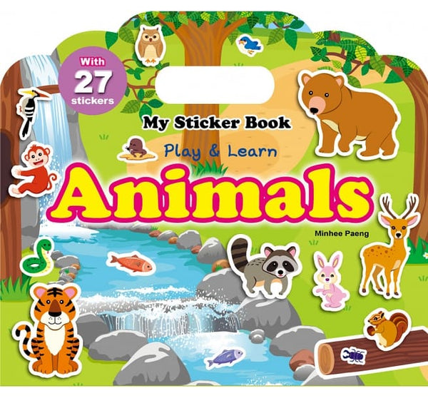 My Sticker Book-Animals(手提貼紙書─動物 英文版)