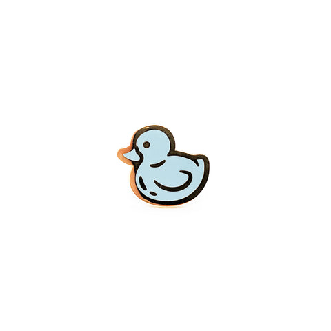 Pastel Blue Rubber Ducky Hard Enamel Pin