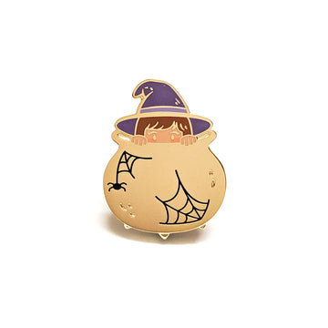 Purple Witch Pin