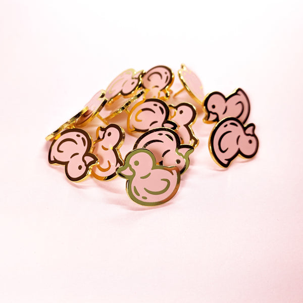 Pink Ducky Pin