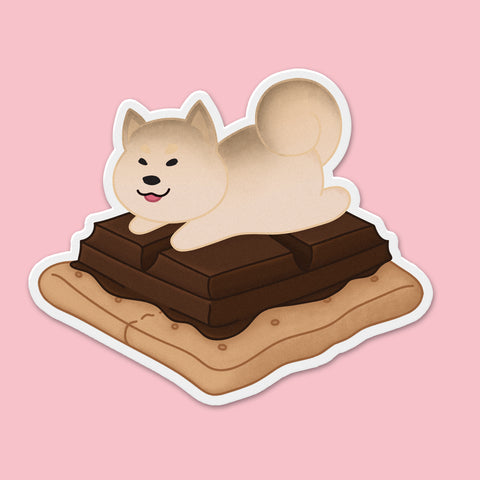 Toasted Shiba S'more Sticker