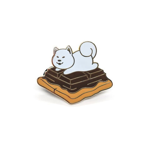 Toasted Shiba S'more Hard Enamel Pin