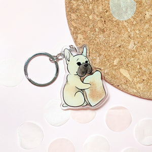 Frenchie Toast Keychain