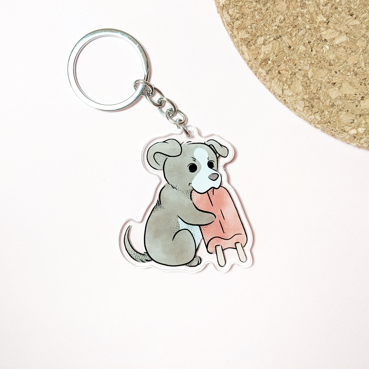 Pibble Popsicle Keychain