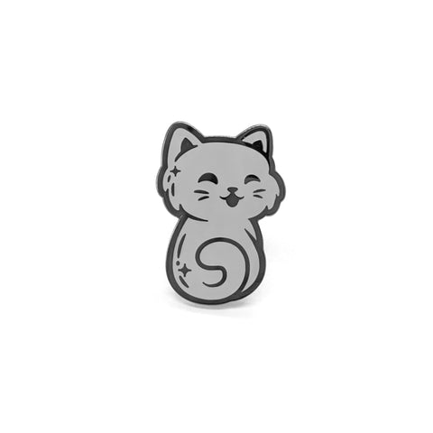 Gray Cat Pin