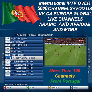 6 MONTHS of International IPTV Subscription Over THAN 5320 CHANNELS
