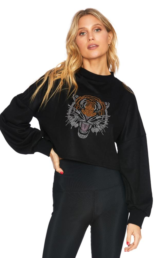 Beach Riot - Cropped Tiger Sweater - 35 Strong