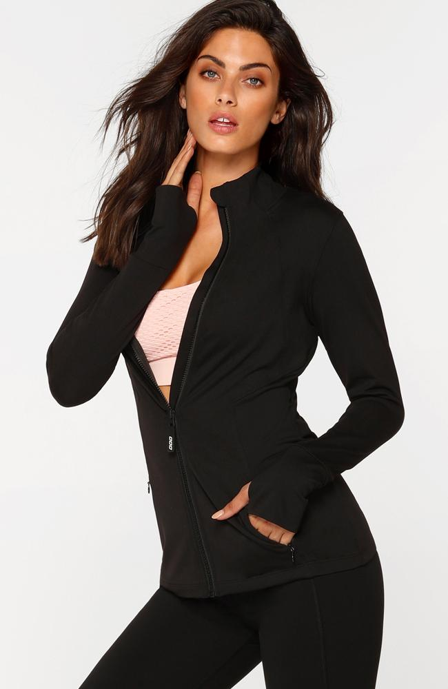 Lorna Jane - Endurance Black Activewear Jacket - 35 Strong