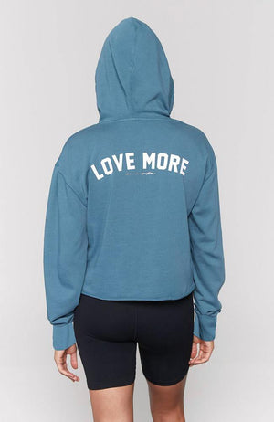 Spiritual Gangster - Love More Serena Crop Hoodie - 35 Strong