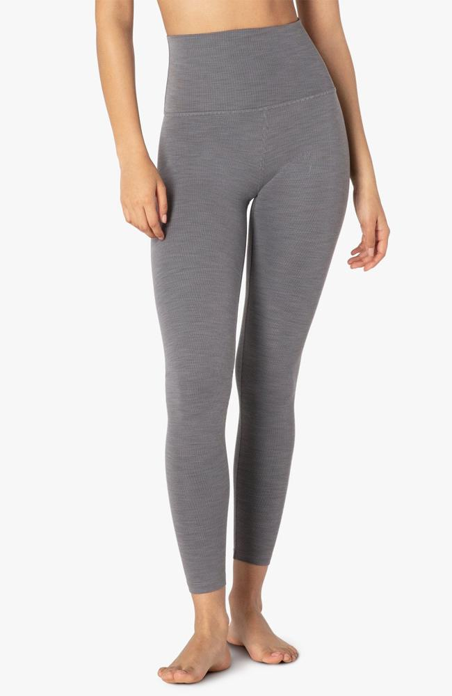 Beyond Yoga - Heather Rib High Waisted Midi Leggings - 35 Strong