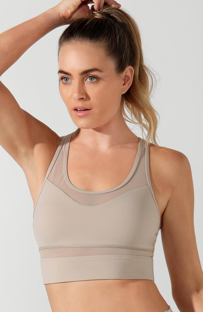 Lorna Jane - Amelia Tan Sports Bra - 35 Strong