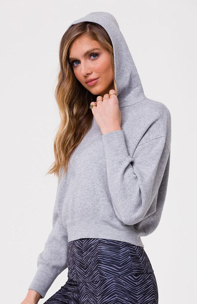Onzie - Gray Cropped Hoodie - 35 Strong