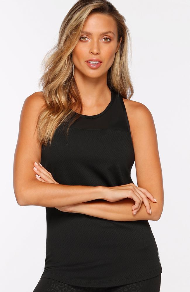 Lorna Jane - Black Excel Tank Top - 35 Strong