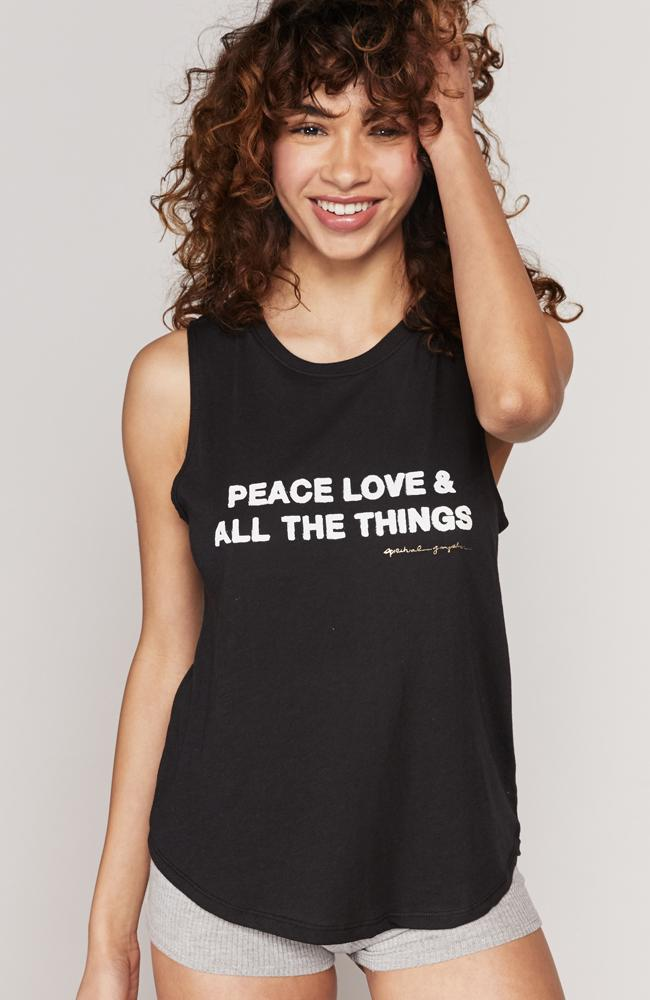 Spiritual Gangster- Peace Muscle Tank - 35 Strong