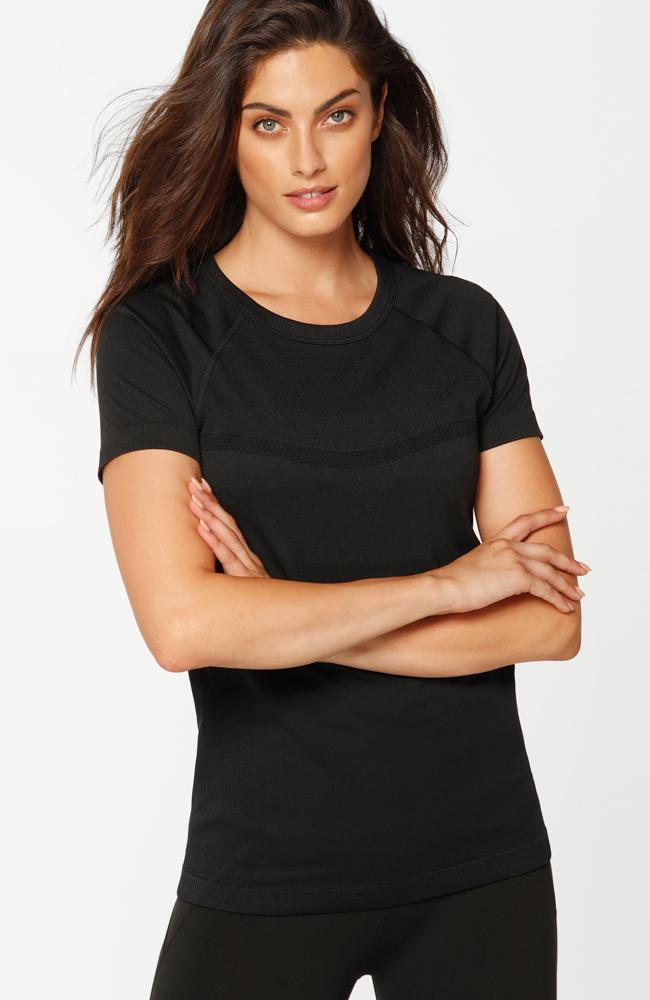 Lorna Jane - Seamless Active Tee Black - 35 Strong