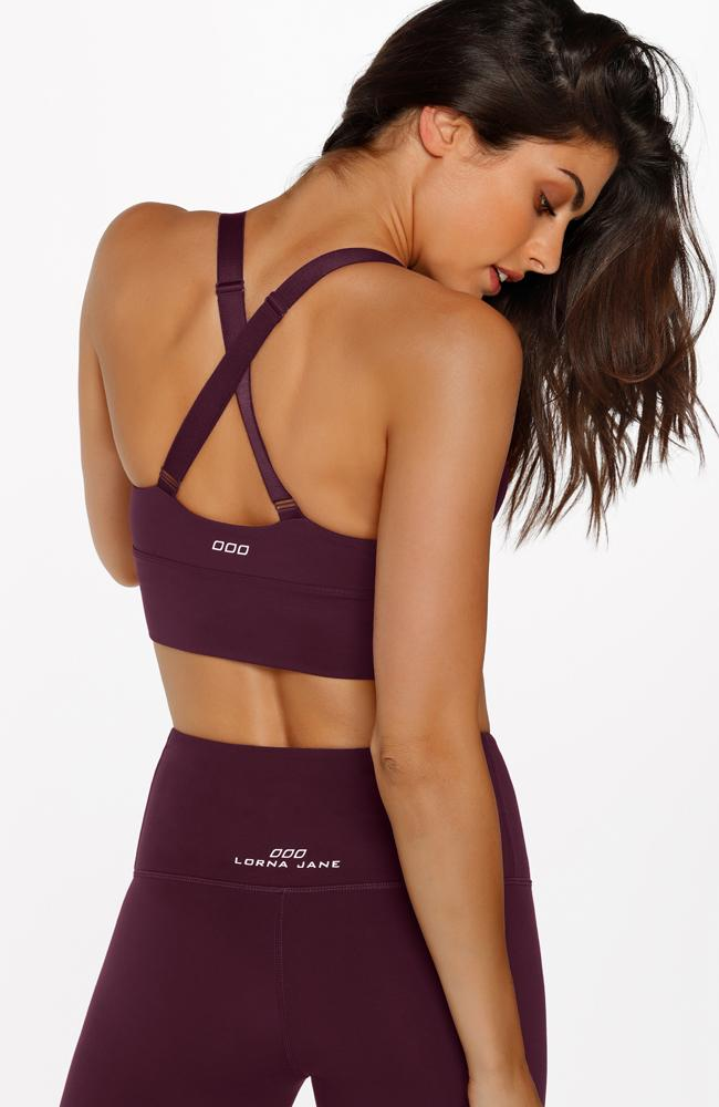 Lorna Jane - Agility Sports Bra Pinot - 35 Strong