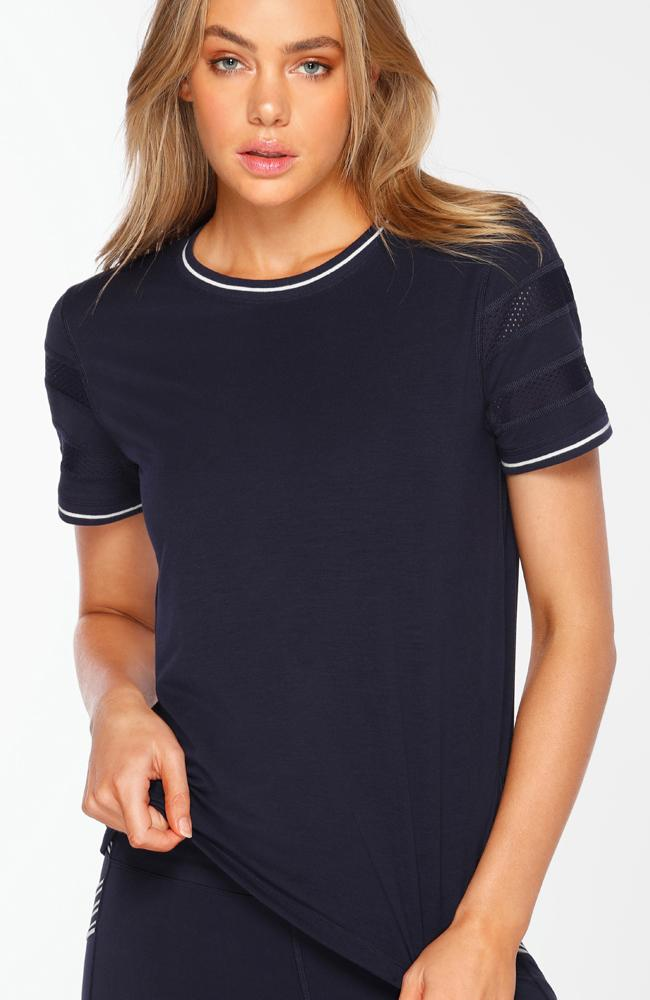 Lorna Jane - Retro Active Navy Tee - 35 Strong