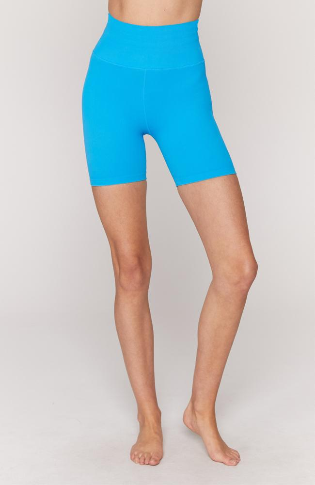 Spiritual Gangster - Blue Ribbed Biker Short - 35 Strong