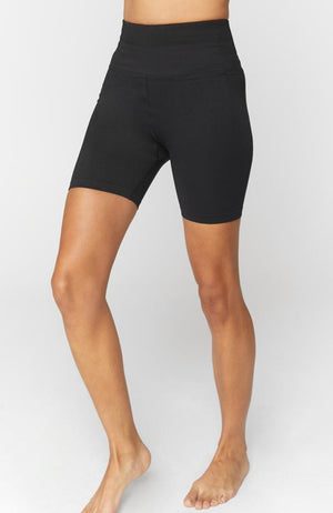 Spiritual Gangster- Seamless Biker Shortie - 35 Strong