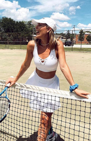 Year of Ours - Ribbed Football Bra White - 35 Strong