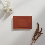 Card Wallet in Cognac (Oak Tanned Leather)
