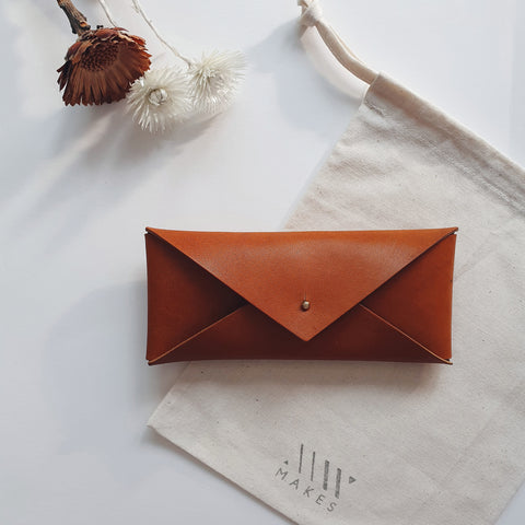 Long Envelope in Cognac (Oak Tanned Leather)