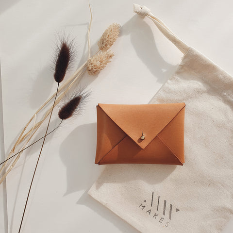 Mini Envelope in Vachetta Leather