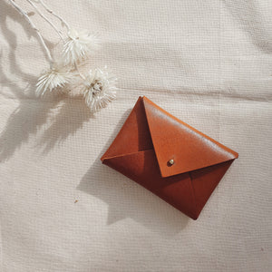 Mini Envelope in Cognac (Oak Tanned Leather)