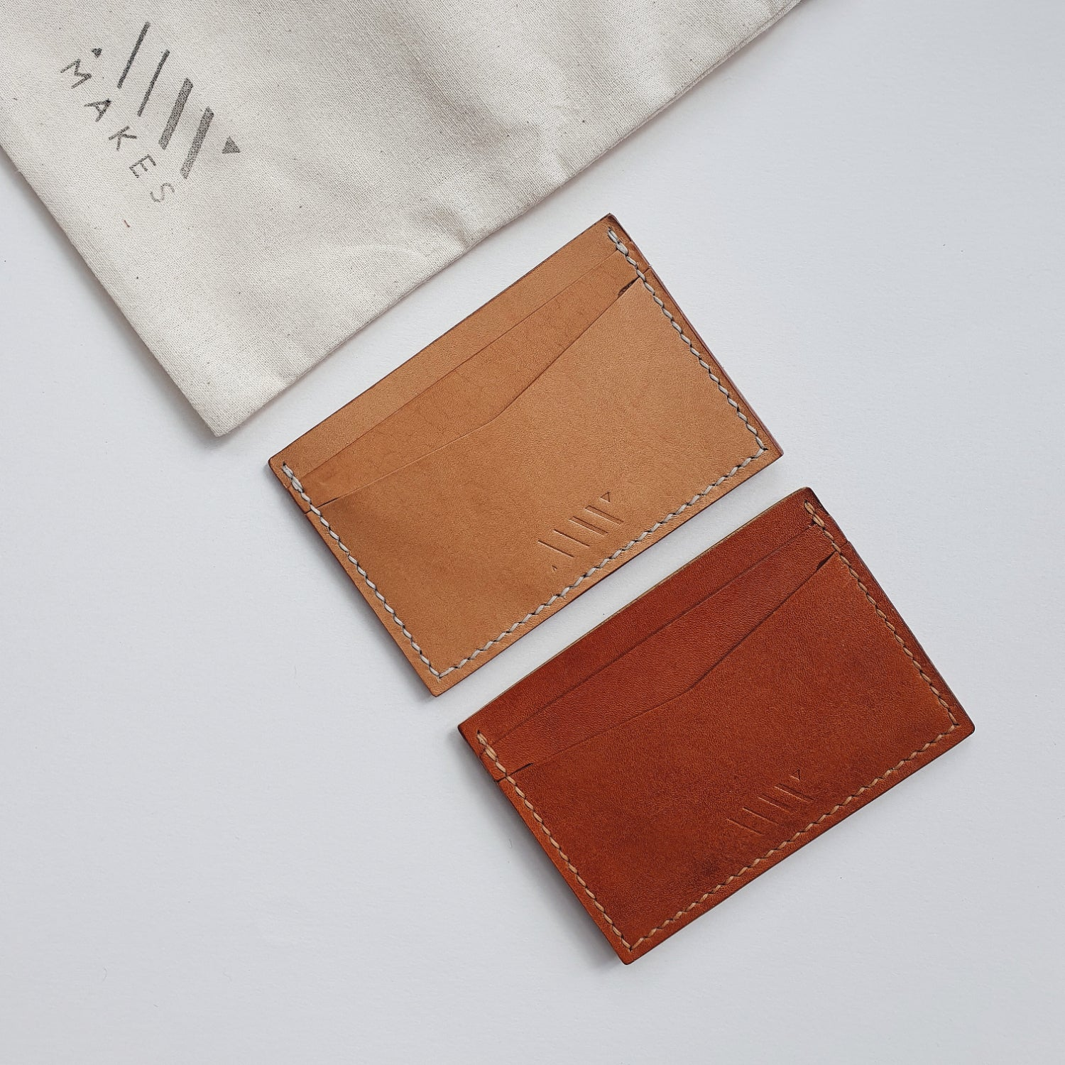 Card Wallet in Vachetta Leather