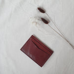Card Wallet in Chestnut (Oak Tanned Leather)