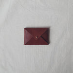 Mini Envelope in Chestnut (Oak Tanned Leather)