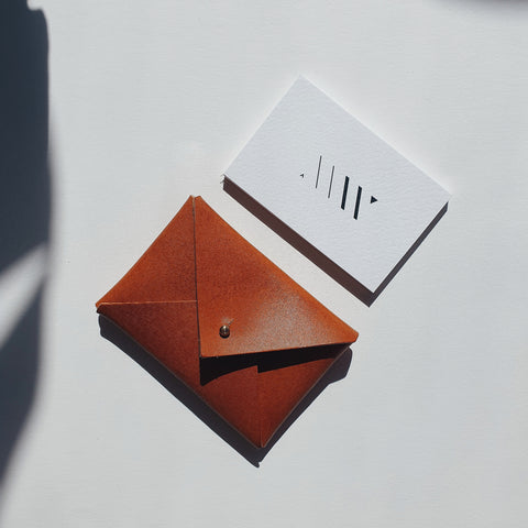 Mini Envelope in Oak Tanned Leather