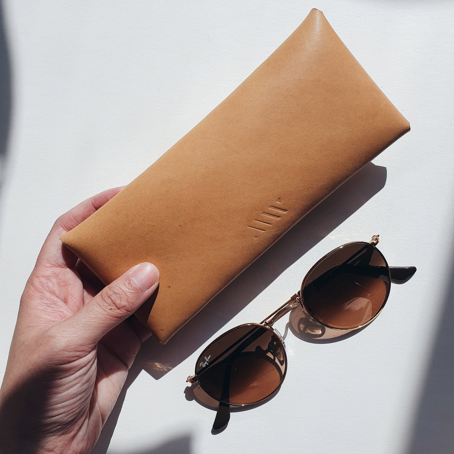 Long Envelope in Vachetta Leather