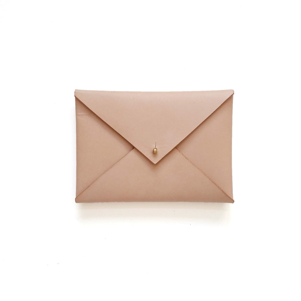 Small Envelope Clutch in Natural