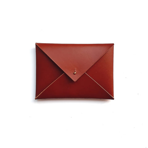 Small Envelope Clutch in Tan