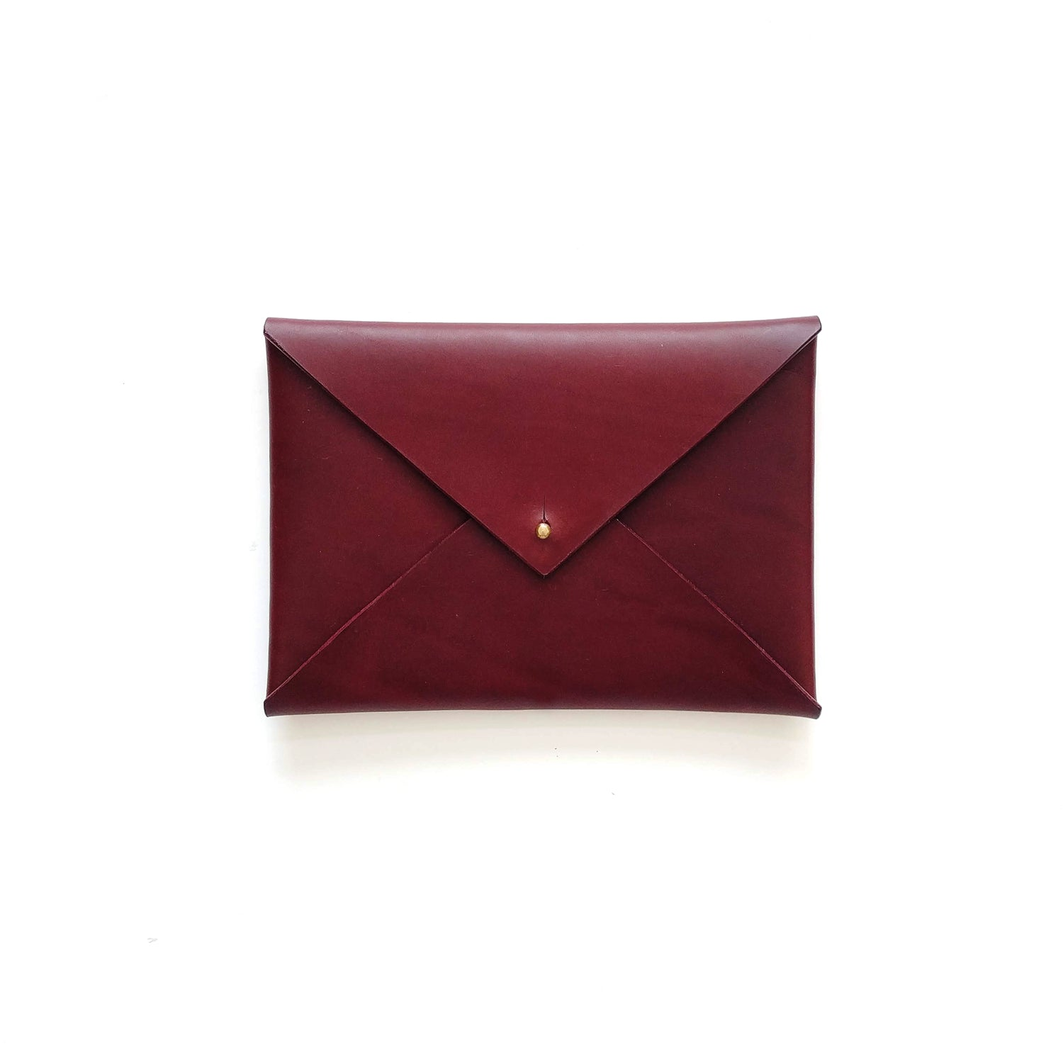 Small Envelope Clutch in Wine