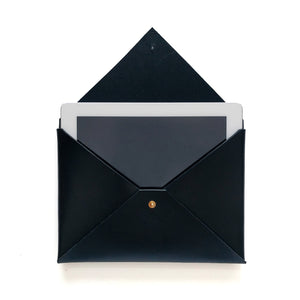 Medium Envelope Clutch in Black