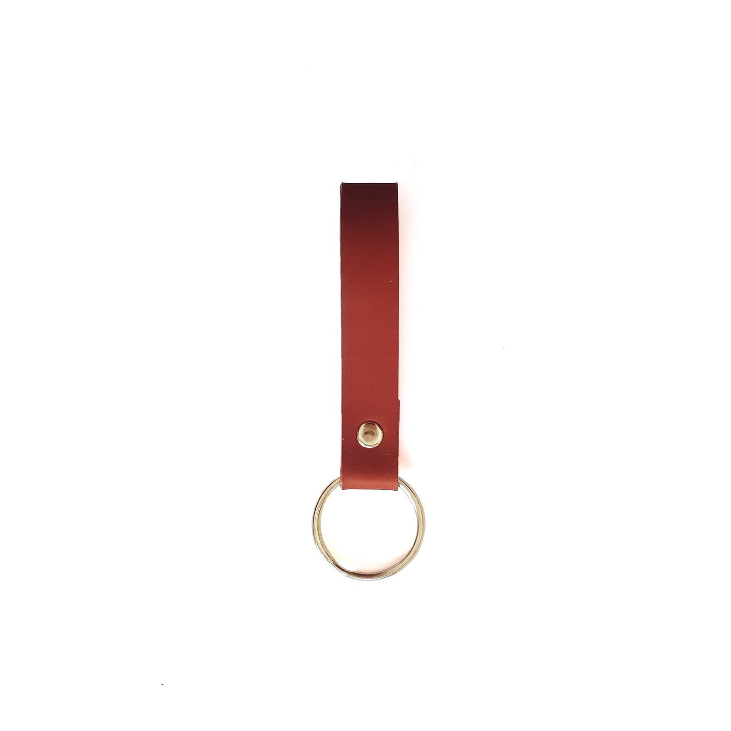 Keyring in Tan
