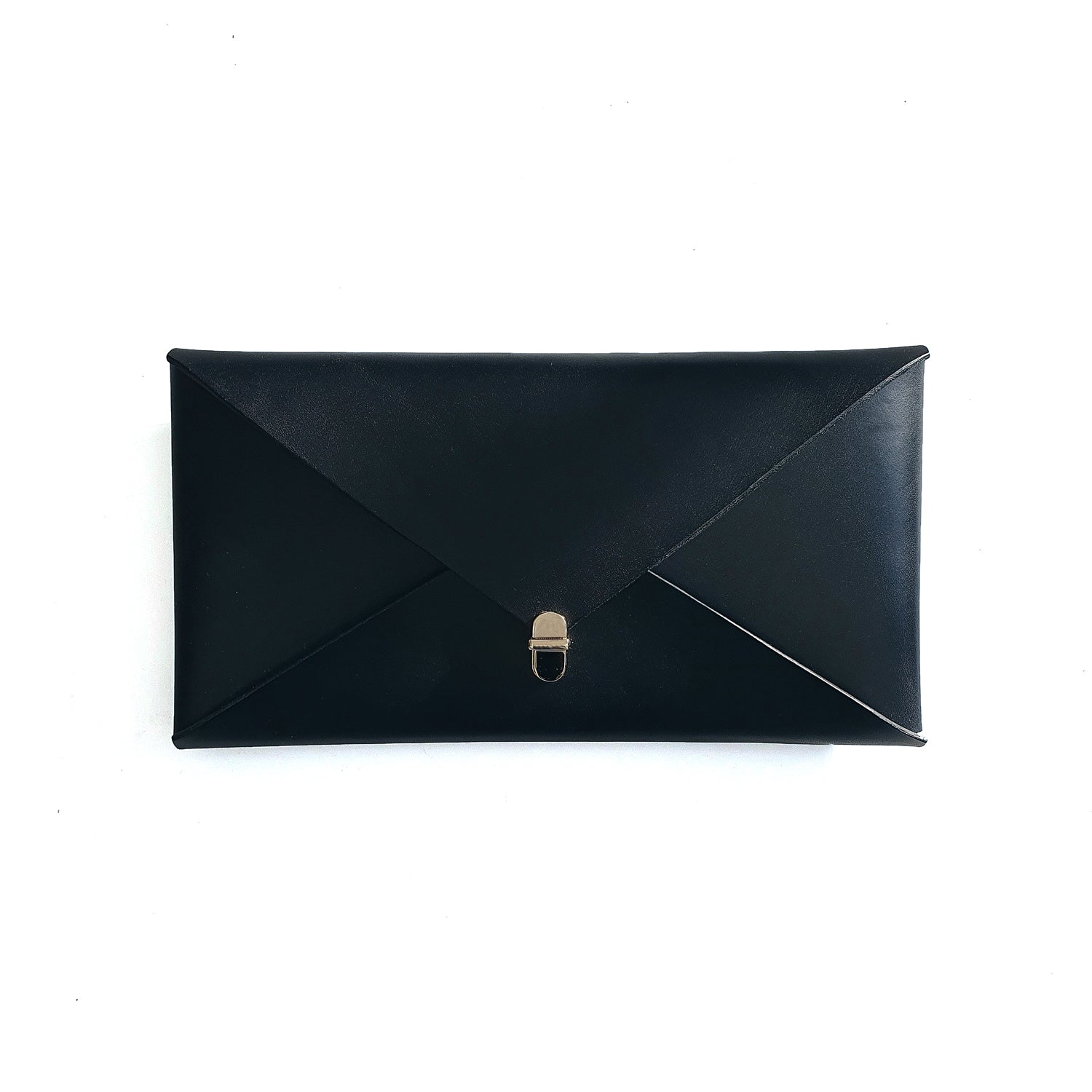 Wide Envelope Clutch in Black