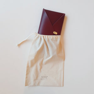 Wide Envelope Clutch in Wine