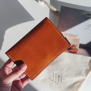 Small Wallet in Cognac (Oak Tanned Leather)