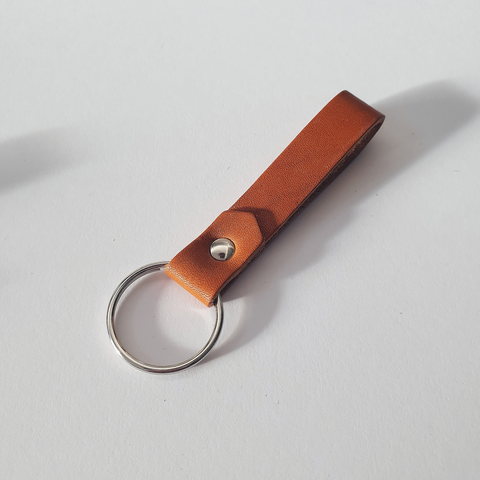 Keyring in Cognac (Oak Tanned Leather)