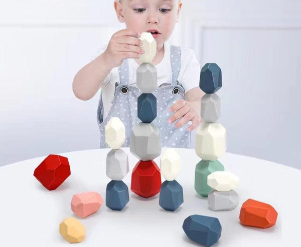 Wooden Rock Balancing Blocks Toy